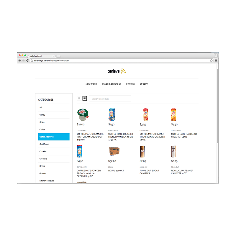 Parlevel Delivery Customer Portal
